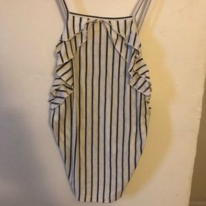 frilly stripped tank